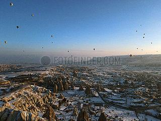 TURKEY-CAPPADOCIA-HOT-AIR BALLOONS-TOURISM