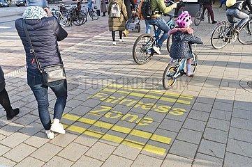 Fairness-Zonen für Radfahrer und Fußgänger