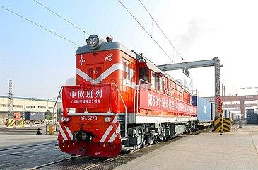 CHINA-SICHUAN-CHENGDU-ST. Petersburg CHINA-EUROPE Güterzüge (CN)