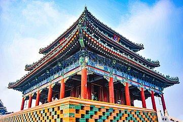 Peking - Wanchun Ting Pavillon im Jingshan-Park | Beijing - Wanchun Ting Pavilion in Jingshan Park