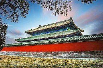 Peking  Park des Himmelstempels | Beijing  Temple of Heaven Park