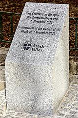 ÖSTERREICH-VIENNA-Terror-Opfer-GEDENKSTEIN