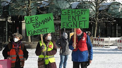 Kundgebung zum Pflegenotstand in Hamburger Asklepios Krankenh?usern