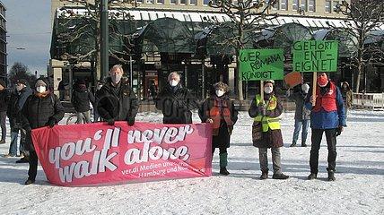 Kundgebung zum Pflegenotstand in Hamburger Asllepios Krankenh?usern