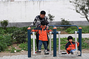 (FOCUS)CHINA-ANHUI-FUNAN-POVERTY ALLEVIATION-QUADRUPLETS (CN)