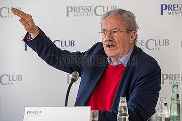 Walter Zöller und Christian Ude bei einer Pressekonferenz