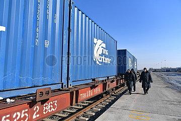 CHINA-JILIN-CHANGCHUN-EUROPE Güter Zugverkehr (CN)