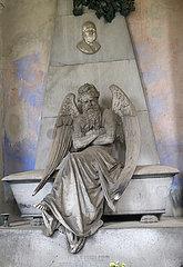 Genua  Italien - Grabskulptur auf dem Monumentalfriedhof Staglieno in Genua