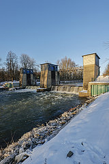 Wehr Westfalia  Winterlandschaft  Lippe  Luenen  Ruhrgebiet  Nordrhein-Westfalen  Deutschland
