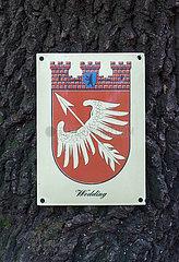 Berlin  Deutschland - Das Wappen des Stadtbezirks Berlin-Wedding