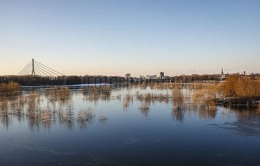 Winterlandschaft  Lippe  Wesel  Ruhrgebiet  Nordrhein-Westfalen  Deutschland