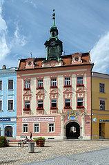 Jindrichuv Hradec  Tschechische Republik - Rathaus am Markplatz