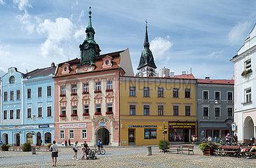 Jindrichuv Hradec  Tschechische Republik - Markplatz