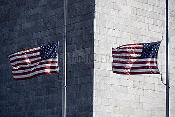 U.S.-WASHINGTON-COVID-19-FLAGS AT HALF-STAFF
