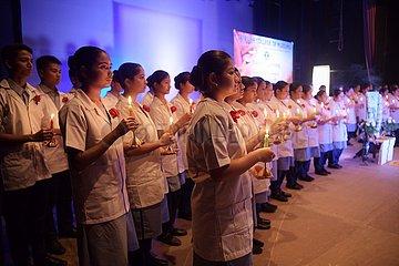 INDIA-AGARTALA-STUDENTS OF NURSING-OATH TAKING CEREMONY