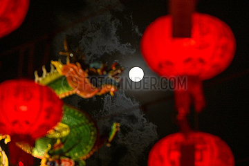 MALAYSIA-KUALA LUMPUR-CHINESE LANTERN FESTIVAL-FULL MOON