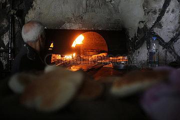 MIDEAST-GAZA-RAFAH-BAKERY-TRADITIONAL OVEN