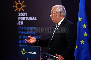 PORTUGAL-LISBON-PM-EC-VIDEO SUMMIT-COVID-19