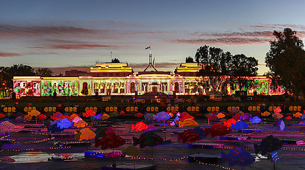 AUSTRALIA-CANBERRA-ENLIGHTEN FESTIVAL