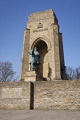 Kaiser-Wilhelm-Denkmal auf der Hohensyburg  Dortmund  Nordrhein-Westfalen  Deutschland