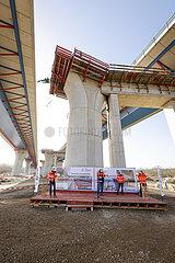 Neubau Autobahnbruecke  Lennetalbruecke  Hagen  Nordrhein-Westfalen  Deutschland