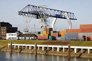 Rheinhafen Krefeld  Nordrhein-Westfalen  Deutschland