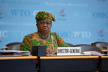 SWITZERLAND-GENEVA-WTO-CHIEF-NGOZI OKONJO-IWEALA-TAKING OFFICE