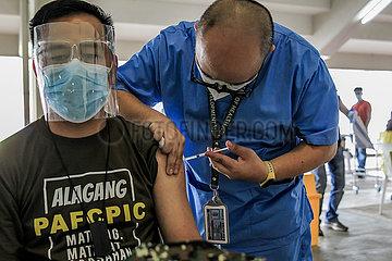 PHILIPPINES-MARIKINA CITY-COVID-19-VACCINATION