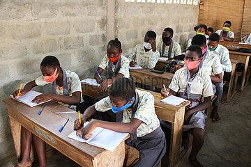 BENIN-OUIDAH-SCHOOL-COVID-19 BENIN-OUIDAH-SCHOOL-COVID-19