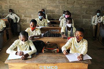 BENIN-OUIDAH-SCHOOL-COVID-19