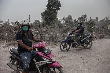 INDONESIA-NORTH SUMATRA-MOUNT SINABUNG-AFTERMATH