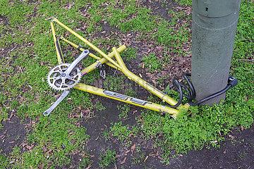 Berlin  Deutschland - Fahrradleiche