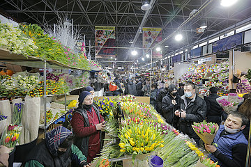 RUSSIA-MOSCOW-INT'L WOMEN'S DAY-FLOWERS