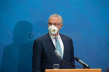 Bayerns Innenminister stellt die Polizeiliche Kriminalitätsstatistik vor