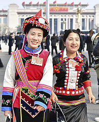 (Zwei Sitzungen) CHINA-PEKING zwei Sessions-Frauen (CN)