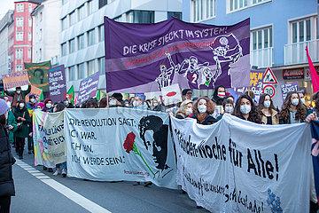 Demo zum internationalen Frauentag in München