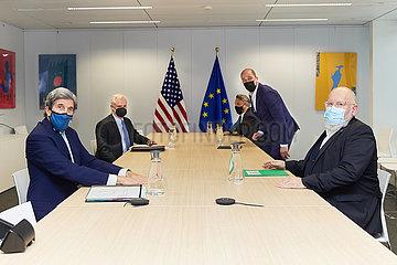 BELGIUM-BRUSSELS-EU-U.S.-KERRY-VISIT