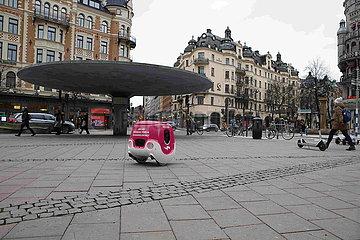 SCHWEDEN-STOCKHOLM-DELIVERY ROBOT