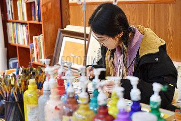CHINA-TIBET-LHASAS-TIBETANISCHER CULTURE Experience Center (CN)