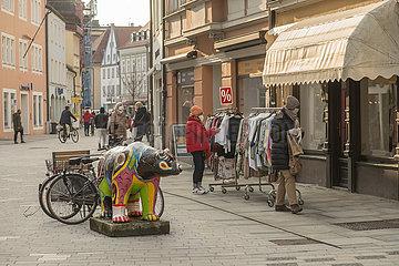 Modegeschaeft  Click & Meet  Einkaufsstrasse Freising 10.03.2021