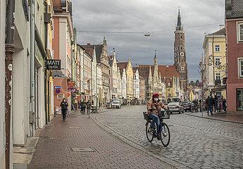 Geschaefte wieder offen  Altstadt  Landshut  11.03.2021