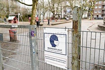 Maskenpflicht für Erwachsene auf Kinderspielplätzen in Hamburg