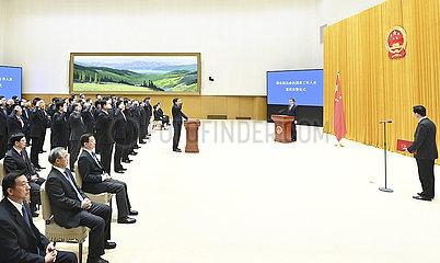 CHINA-PEKING Staatsrats-VERFASSUNG-OATH (CN)