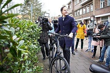 Die in den Niederlanden DEN HAAG-WAHLEN-RUTTE