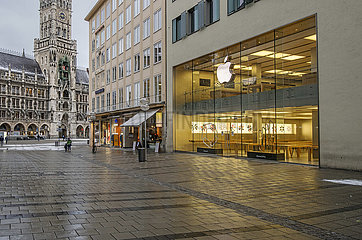Apple Store  Muenchen  14.01.2021