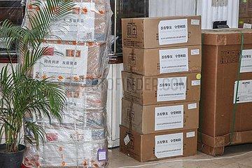 SRI LANKA-COLOMBO-CHINA-antiepidemische MATERIALS-SPENDE