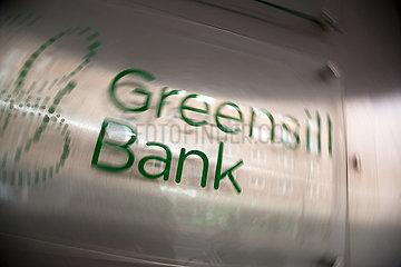Deutschland  Bremen - Die insolvente Greensill Bank  Logo am Firmensitz