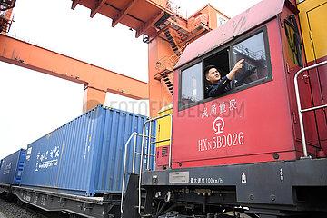 CHINA-CHONGQING-CHINA-EUROPE Fracht TRAIN-10 Jahre (CN) CHINA-CHONGQING-CHINA-EUROPE Fracht TRAIN-10 Jahre (CN)
