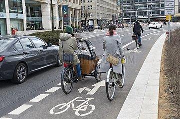 Fahrradspuren in Hamburg