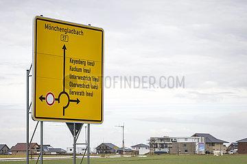 Neubau Umsiedlungsstandort fuer Keyenberg  Kuckum  Unterwestrich  Oberwestrich und Berverath  Erkelenz  Nordrhein-Westfalen  Deutschland